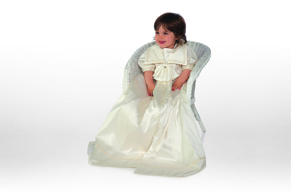 Little Darlings Silk Christening Gown Charlie G206
