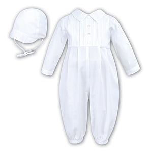 sarah Louise Ivory Romper & Hat 9454