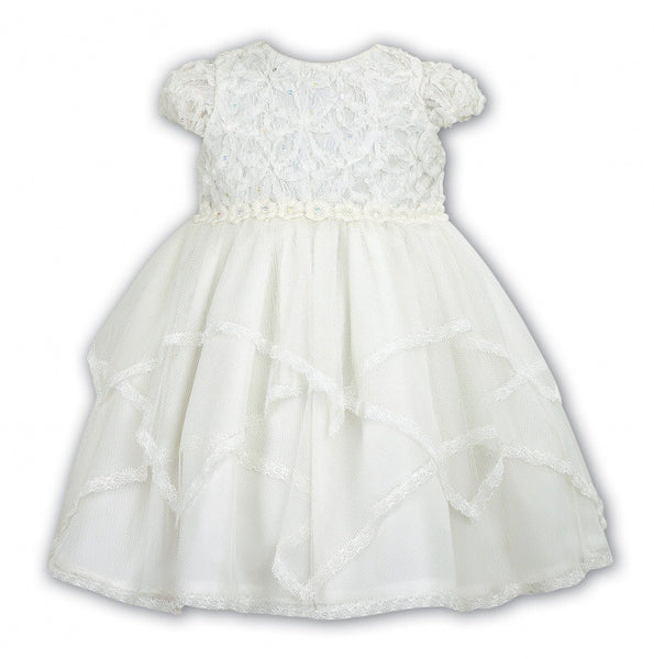 Sarah Louise 070033 White Christening Dress
