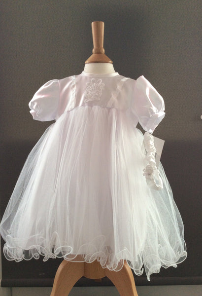 Pex Sophie Christening Dress and Headband