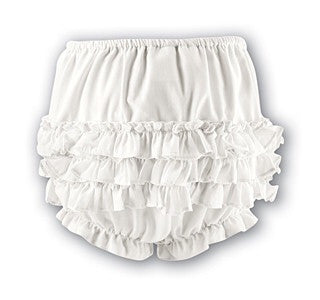Sarah Louise Frilly Knickers White 003760