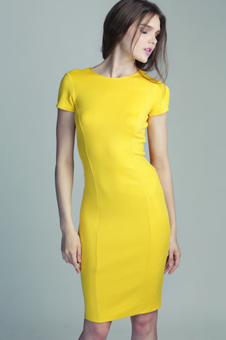 Yellow Neoprene Dress