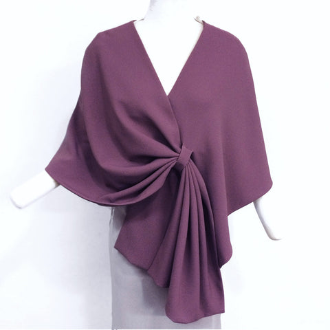 Asymmetrical Wrap with pleats