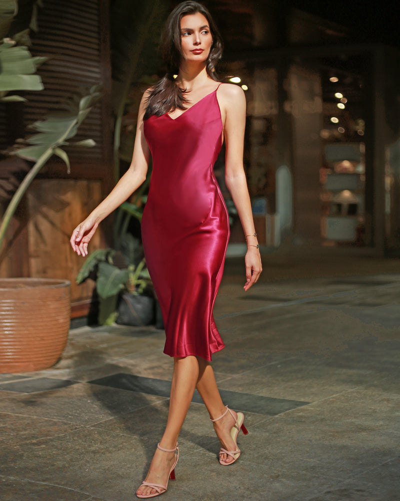 Slip and Tie, this exciting slip dress comes with a twist