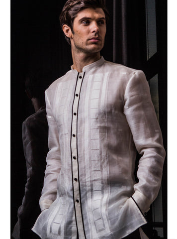 Barong with Chinese collar