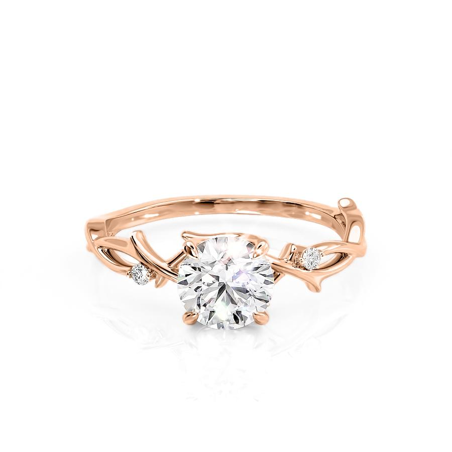 Rose Gold Twig Engagement Ring