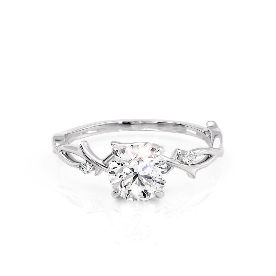 White Gold Twig Engagement Ring
