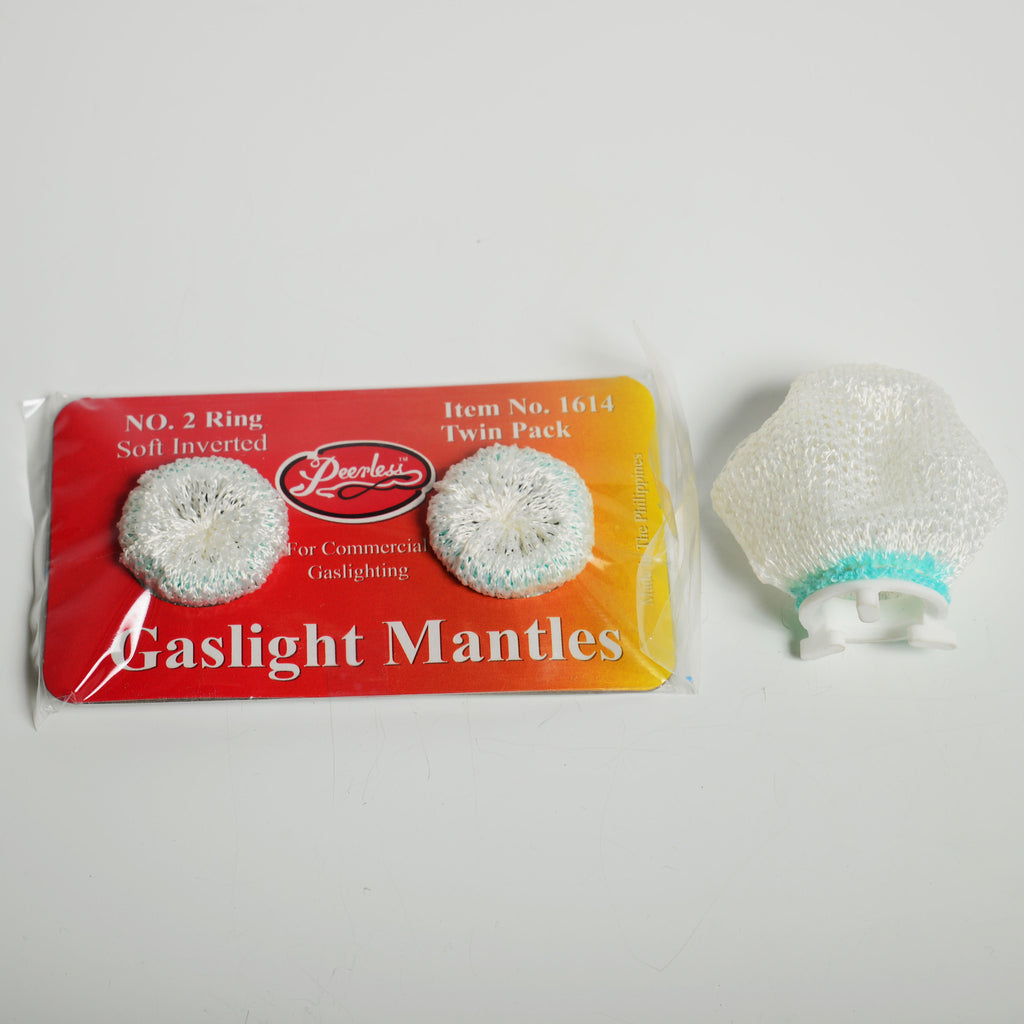 Peerless Soft Inverted Gaslight Mantle No.2 - 2 Pack