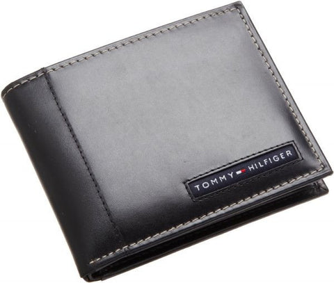 Tommy Hilfiger Cambridge Wallet For Men (Black, Leather)