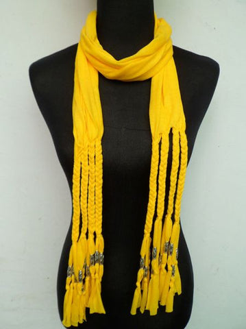Fashion Scarve For Women (Yellow, Fabric)