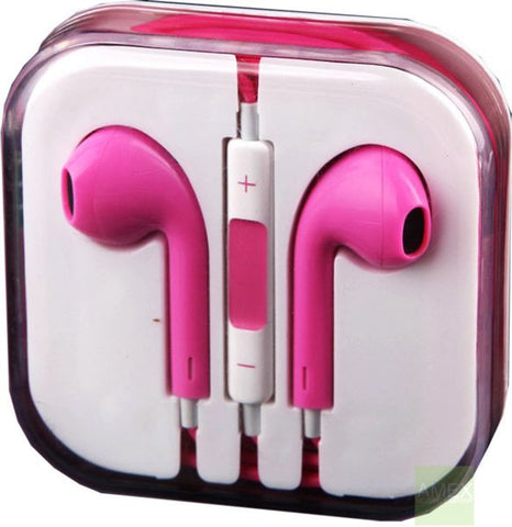 Pink EarPods Handfree for iPhone 5 and other iPhone's and mobile phones with Mic