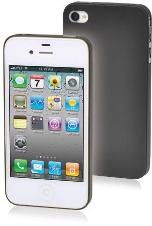 """PP Super Slim 0.35mm Case Apple iPhone4/4S Black with Screen Protector & Installation Kit"""