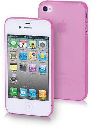 """PP Super Slim 0.35mm Case Apple iPhone4/4S Pink with Screen Protector & Installation Kit"""