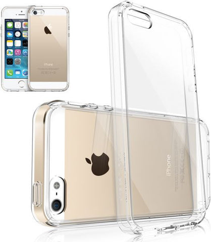 Ringke Fusion Apple iPhone 5   5S Case Bumper Shock Absorption Bumper with Anti Scratch Clear Back Premium Hybrid Case [CRYSTAL]