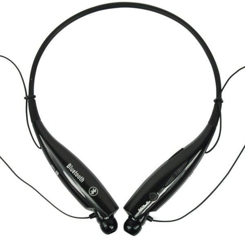 HV 800 Universal Wireless Bluetooth Stereo Headset Neckband Style Earphone Headphone (Black)