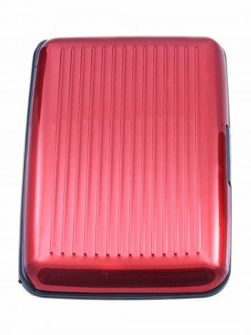 WalletID Card Guard Aluminum Wallet/Credit Card Case - Red