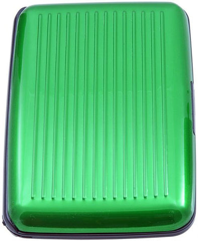 WalletID Card Guard Aluminum Wallet/Credit Card Case - Green
