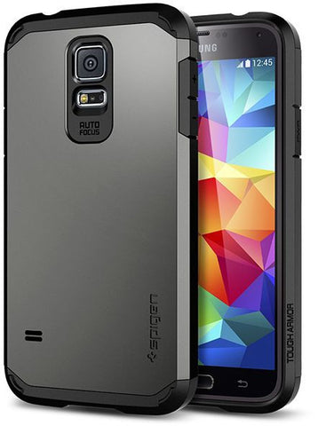 Spigen SGP Samsung Galaxy S5 Tough Armor Case / Cover [Gun Metal]