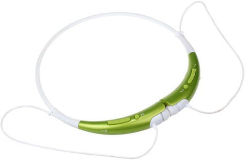Kinrener HBS-740 Bluetooth V4.0 APTX Wireless Stereo Headset Headphone w/ Microphone - Green   White
