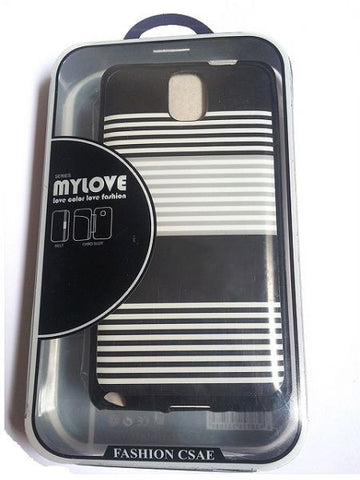 ٍSamsung Galaxy Note III 3 N9000 TPU Lines Back Mylove Case - Black