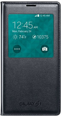 SAMSUNG Galaxy S5 G900 S-View Flip Cover,  Black