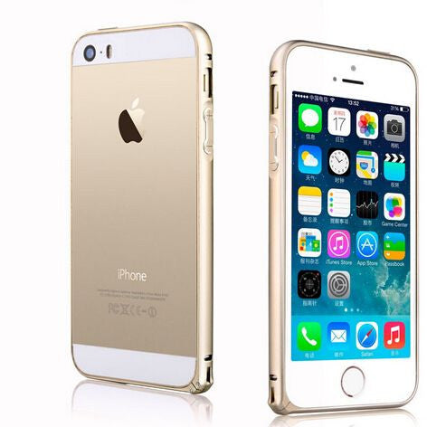 Luxury  Frame For iPhone5 5G 5S Slim Shining Bling Case  iphone case cover for Iphone 5 5s-gold