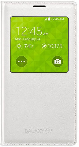 S-View Flip Cover  For SAMSUNG Galaxy S5 G900, White
