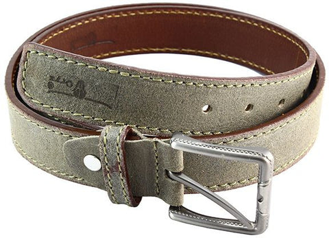 Oryx Genuine Leather Belt With Decorative Stitches