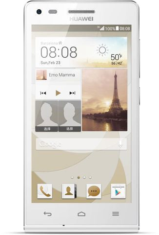 Huawei Ascend G6 (4GB, Android OS, 3G + Wifi, White)