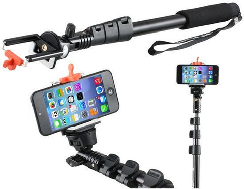 Extra Long Aluminium Monopod Self Photo Selfie Handheld Stick Rod For HTC LG SONY NOKIA Mobile phone