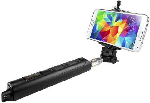 Monopod improved Selfie stick (zoom) and (Snapshoot) - Black