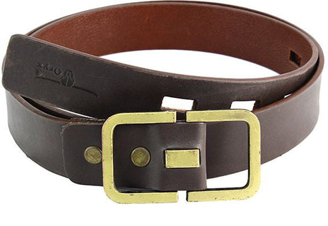 Oryx 11-07-5000-03 Belt With Golden Buckle - Brown
