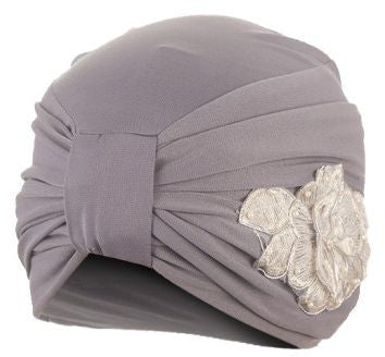 Turbania 34 Viscose Lycra Soiree Turban For Women - Mauve