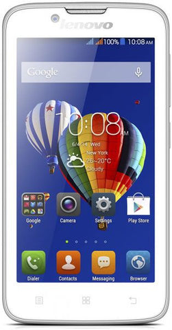 Lenovo A328 Smartphone (Quad-core, 4 GB Memory, 3G , WiFi, Android OS, White)