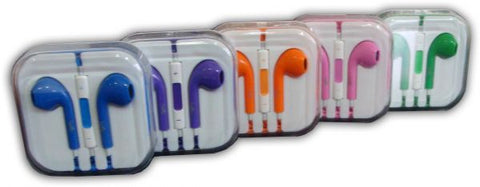 Leeno Wired Earphones for iPhone - iPad - iPod - Set of 5 - Multi Color