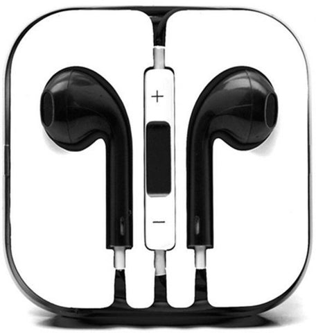 Black EarPods Handfree for iPhone 5 and other mobile phones with Mic