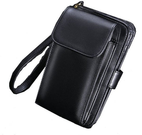 Wallet Soft Muti-functional Mobile Phone Bag Case With 8-Card Holder