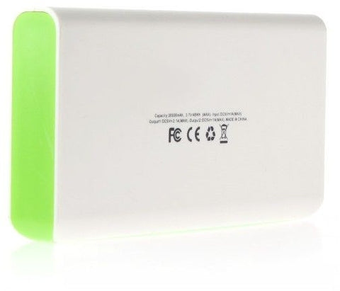 """20000mAh"" External Power Source Portable Power Bank w/ LED Flashlight"
