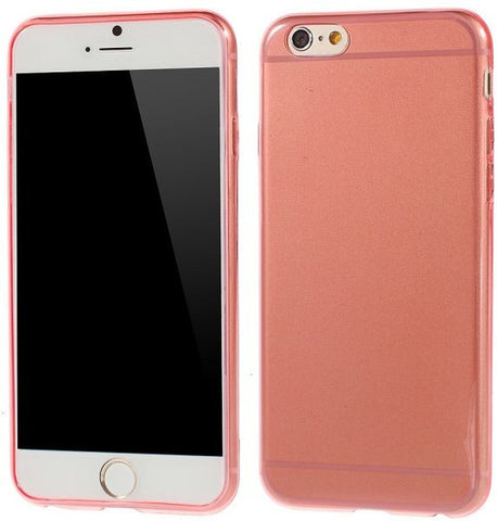 0.6mm Slim Glossy TPU Skin Protector  & Screen Guard for  iPhone 6 4.7 inch - Red
