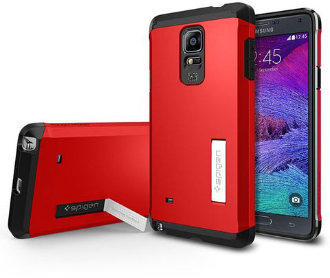 Spigen Galaxy Note 4 Tough Armor Kickstand Samsung Case / Cover [Electric Red]