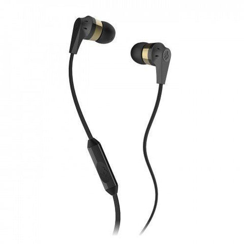 Skullcandy S2IKDY-144 Ink'd 2 In-Ear Headphone with Mic - Gold/Black