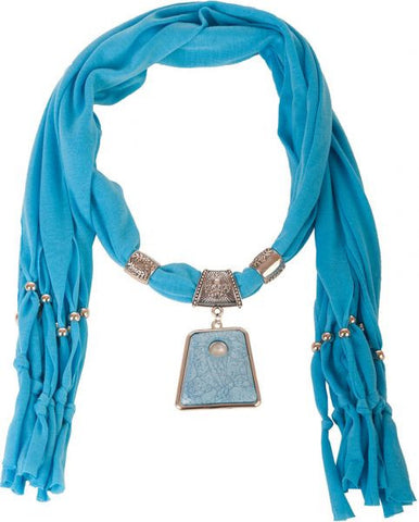 Fashion Scarf RTG-SC-014 With Accessory-Turquoise