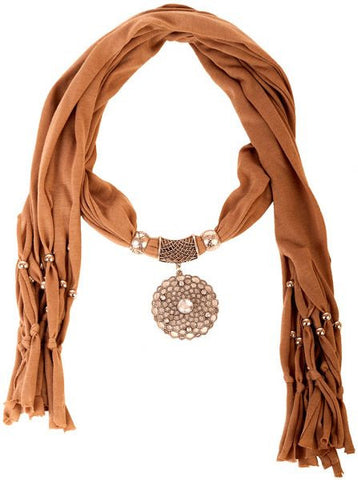 Fashion Scarf RTG-SC-017 With Accessory-Brown