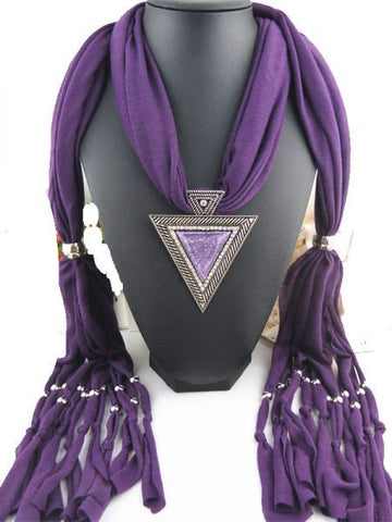 mauve scarf with accessories