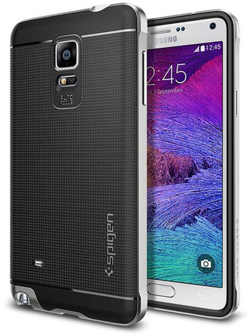 Spigen Samsung Galaxy Note 4 Neo Hybrid Case / Cover [Satin Silver]