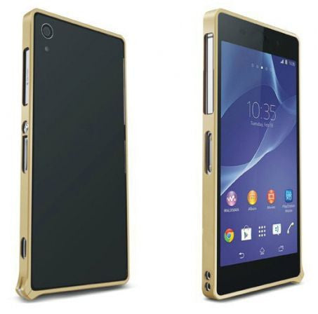 Margoun Slide Metal Bumper Case Cover for  Sony Xperia Z2 - Gold