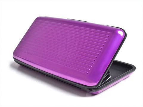 Aluma Wallet Aluminum Credit Card Holder, Mauve