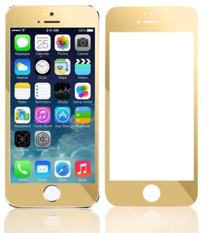 Tempered Glass Screen Protector and Colored Anti-Shock Film for iPhone 6 Plus