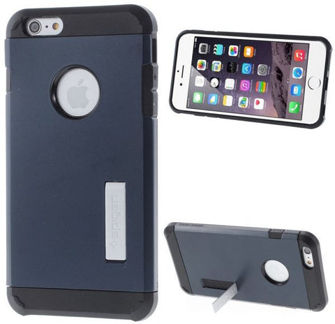 Tough Armor Case & Screen Protector for iPhone 6 Plus 5.5 – Black / Dark Blue