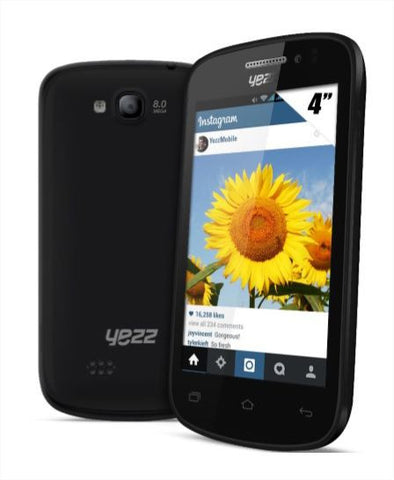 Yezz Andy 4E Dual Sim - 4GB, Android OS, 3G, Black